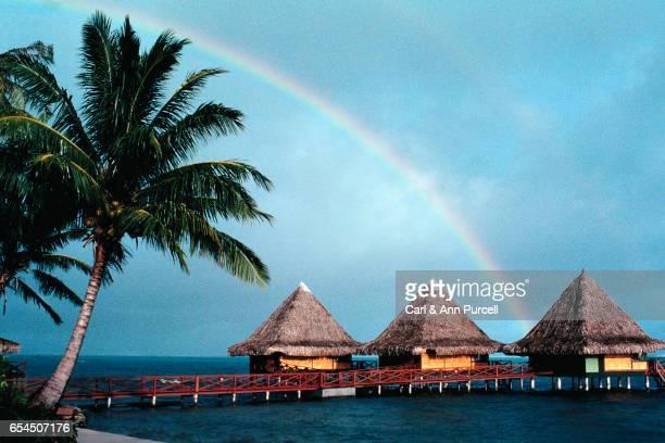 Rainbow Over Resort Huts