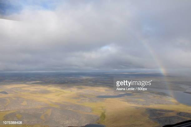 Rainbow over the Arctic Tundra