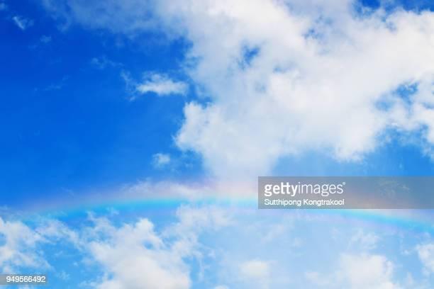 Rainbow over the Blue sky and cloud