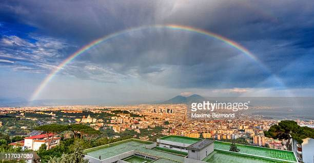 Rainbow over Vesuvio, Naples