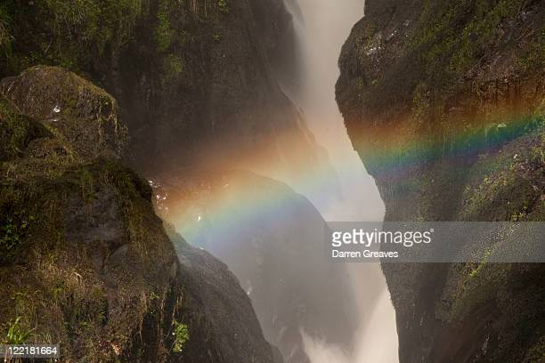Rainbow over waterfall at Aira Force