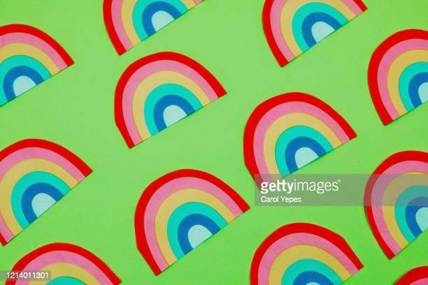 rainbow pattern - aplanar a curva imagens e fotografias de stock