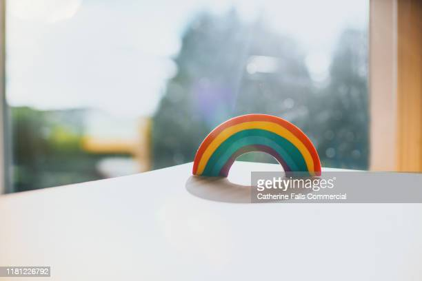 rainbow - man made object stock pictures, royalty-free photos & images