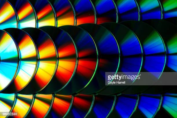 cd rainbow - compact disc stock pictures, royalty-free photos & images