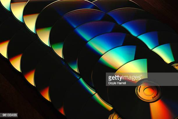 cd rainbow - dvd player stock photos and pictures