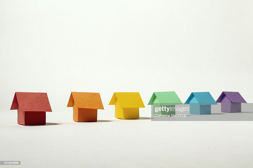 Rainbow row : Stock Photo