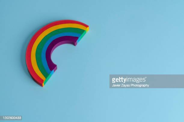 rainbow shaped eraser - symbol stock pictures, royalty-free photos & images