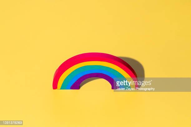 rainbow shaped eraser - bisexuality stock pictures, royalty-free photos & images