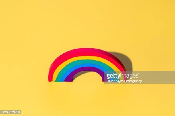 rainbow shaped eraser - bisexuality fotografías e imágenes de stock