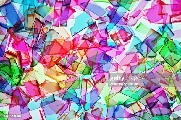 rainbow shatter - translucent stock pictures, royalty-free photos & images