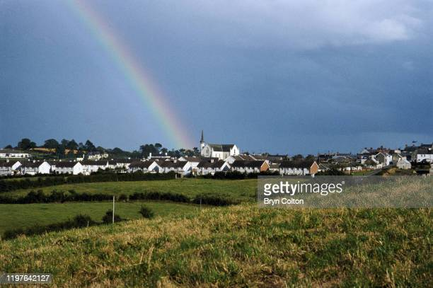 A rainbow shines above St Patrick's church in the village of Crossmaglen in County Armagh Northern Ireland in September 1981 The region is known as...