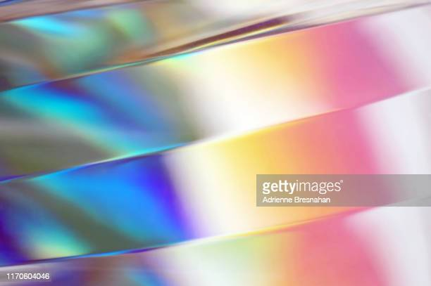 rainbow striped glass - refraction stock pictures, royalty-free photos & images