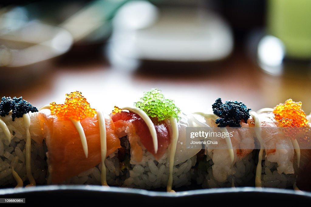 Rainbow Sushi : Stock Photo