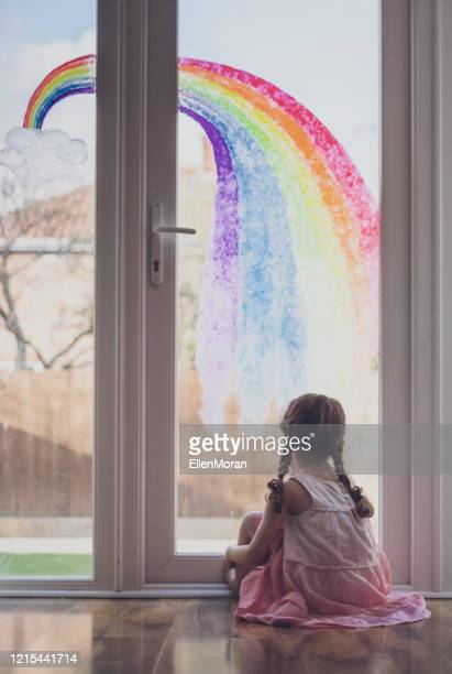 rainbow trail - painting stock pictures, royalty-free photos & images