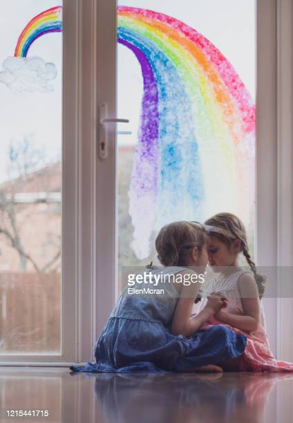 rainbow trail - stay at home order stock pictures, royalty-free photos & images