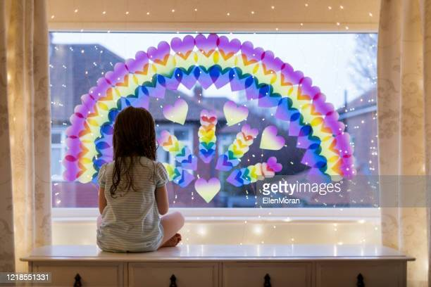 rainbow trail - hope stock pictures, royalty-free photos & images