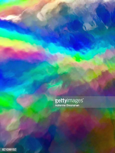 Rainbow Watercolor Effect From Holographic Vinyl