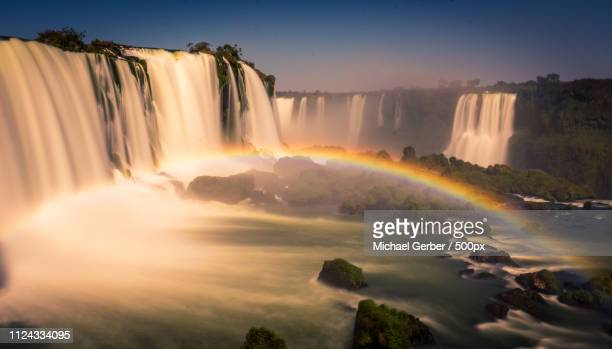 rainbow waterfall - wasser stock pictures, royalty-free photos & images