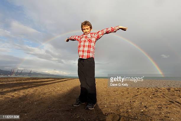 Rainbows with boy