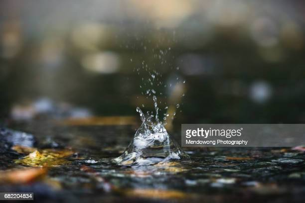 raindrop - falling water flowing water stock pictures, royalty-free photos & images