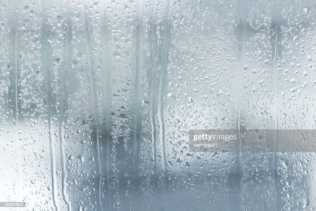 Raindrops on a window : Stock Photo