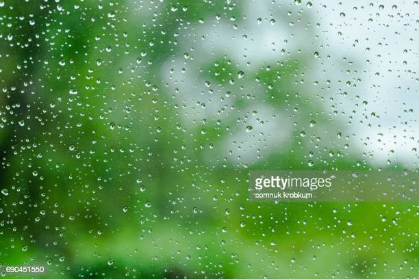 Raindrops on car's window