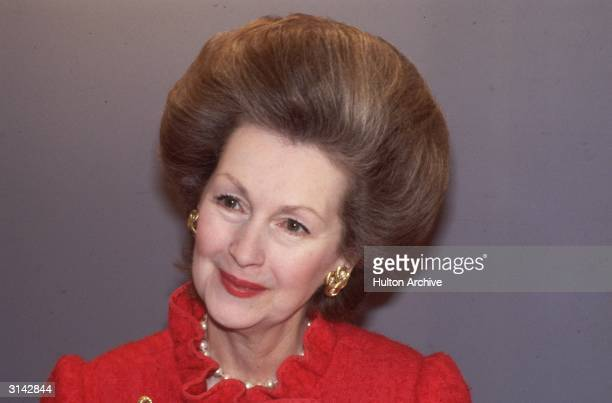 Raine Countess Spencer with a bouffant hair do She is the stepmother of Diana Princess of Wales and daughter of novelist Barbara Cartland