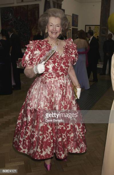 Raine Spencer attends the Hardy Amies Royal Academy Show on June 27 2003 in London
