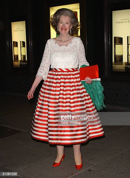 Raine Spencer attends the Made In Italy party at Harrods to launch their new Italian ranges on September 9 2004 in Knightsbridge London