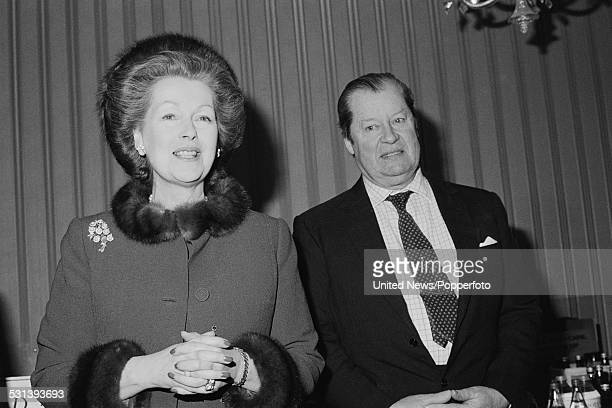 Raine Spencer Countess Spencer and John Spencer 8th Earl Spencer father and stepmother of Diana Princess of Wales pictured together in London on 30th...