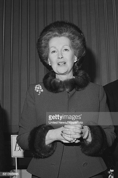 Raine Spencer Countess Spencer stepmother of Diana Princess of Wales pictured in London on 30th January 1984