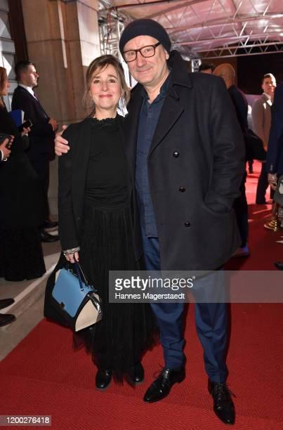 Rainer Bock and his partner Christina Scholz attend the Bayerischer Filmpreis 2020 at Prinzregententheater on January 17, 2020 in Munich, Germany.