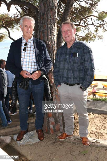 Rainer Bonhof and Berti Vogts during the welcome reception prior the 30th anniversary celebration of the German World Cup win at 1990 on October 9,...