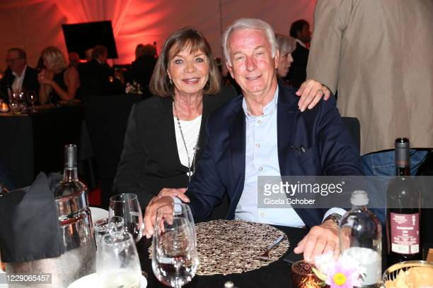 Rainer Bonhof and his wife Roswitha Mueckner Bonhof during the 30th anniversary celebration of the German World Cup win at 1990 on October 10, 2020...