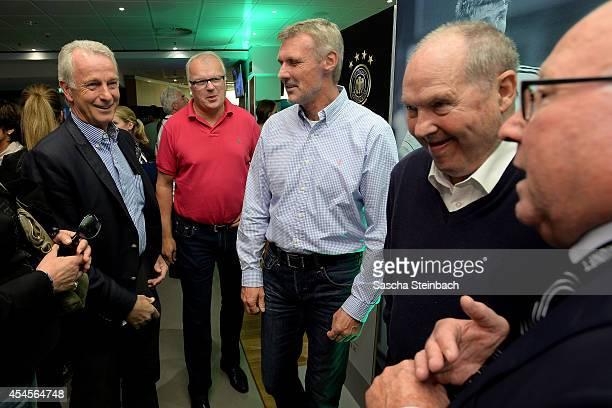 Rainer Bonhof Manfred Bockenfeld Rudolf Rudi Bommer Matthias Matthes Mauritz and Uwe Seeler are seen during the 'Club Of Former National Players'...