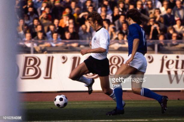 Rainer Bonhof of Germany FR during the International Friendly match between Germany RF and Italy at Berlin Germany on October 8th 1977