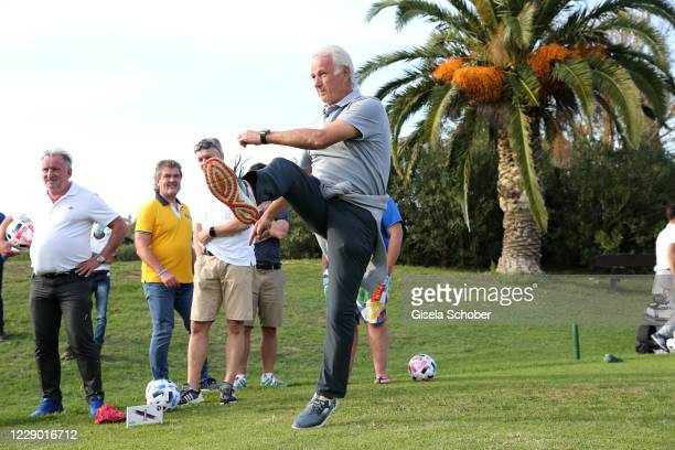 Rainer Bonhof plays soccer golf during the 30th anniversary celebration of the German World Cup win at 1990 on October 10, 2020 at hotel Il Pelagone...
