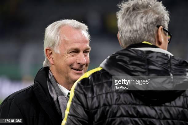 Rainer Bonhof, Vice President of Sport of Borussia Mönchengladbach prior to the DFB Cup second round match between Borussia Dortmund and Borussia...