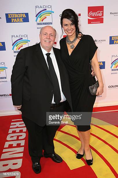 Rainer Calmund and Sylvia attend the Radio Regenbogen Award 2013 at Europapark on April 19, 2013 in Rust, Germany.