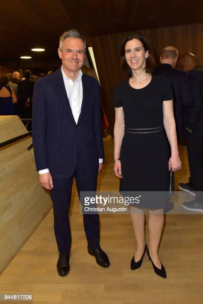 Rainer Esser and Katja Suding attend the Nannen Award 2018 at Elbphilharmonie on April 11 2018 in Hamburg Germany
