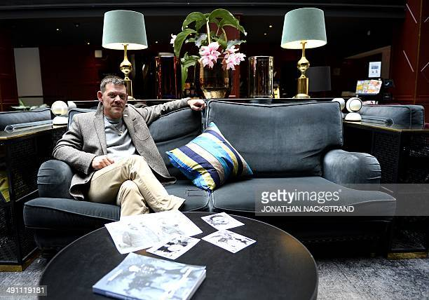 FAU Rainer Hoess the grandson of Rudolf Hoess the Nazi commandant of the Auschwitz concentration and extermination camp sits behind old photographs...