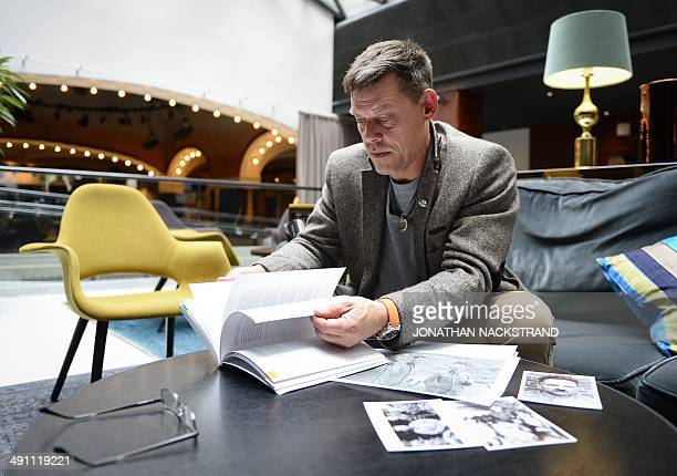 FAU Rainer Hoess the grandson of Rudolf Hoess the Nazi commandant of the Auschwitz concentration and extermination camp looks through his book The...