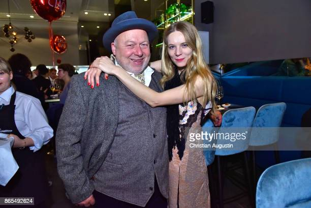 Rainer Kaufmann and Lilith Stangenberg attend farewell party of Hannelore Hoger as BELLA BLOCK at restaurant Tarantella on October 13 2017 in Hamburg...