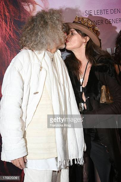 Rainer Langhans and Uschi Obermaier Munich at the The Wild Life movie premiere in Mathäser In