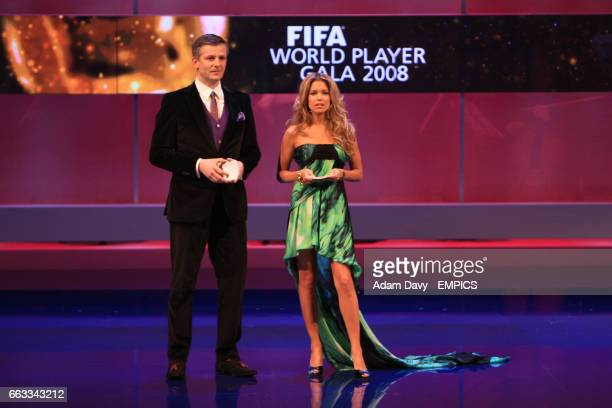 Rainer Maria Salzgeber and Sylvie Francoise van der Vaart present the FIFA World Player Gala 2008