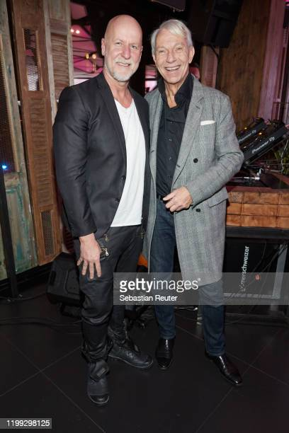 Rainer Schaller and Jo Groebel attend the PEARL Model Management Fashion Aperitif at The Reed on January 13 2020 in Berlin Germany