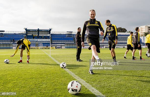 Rainer Schrey athletic coach of Borussia Dortmund during the fifth day of the training camp in Marbella on January 09 2017 in Marbella Spain