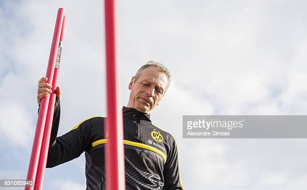 Rainer Schrey athletic coach of Borussia Dortmund during the second day of the training camp at Estadio Municipal de Marbella on January 06 2017 in...