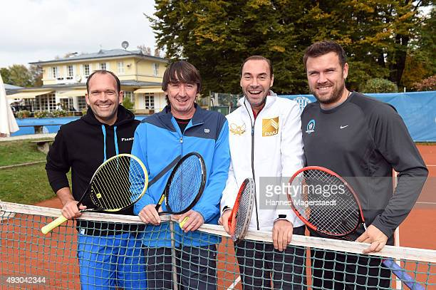Rainer Schuettler Bernd Karbacher Gunther Gamst und Alexander Waske attends the 'Golden RacketCharity2015Tournament' on October 17 2015 in Munich...