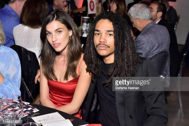 Rainey Qualley and Luka Sabbat attend the GO Campaign Gala 2019 on November 16 2019 in Los Angeles California